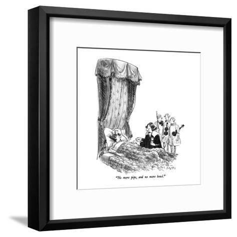 """No more pipe, and no more bowl."" - New Yorker Cartoon-Charles Saxon-Framed Art Print"
