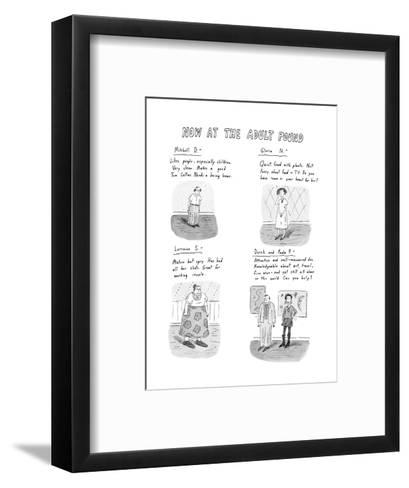 Now at the Adult Pound - New Yorker Cartoon-Roz Chast-Framed Art Print