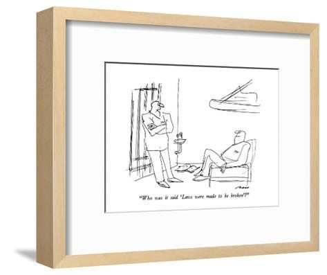 """""""Who was it said 'Laws were made to be broken'?"""" - New Yorker Cartoon-Al Ross-Framed Art Print"""