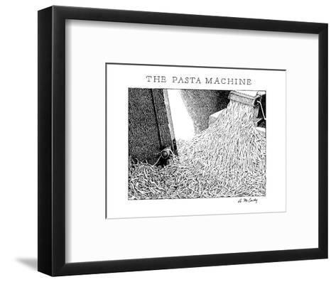 The Pasta Machine - New Yorker Cartoon-Ann McCarthy-Framed Art Print