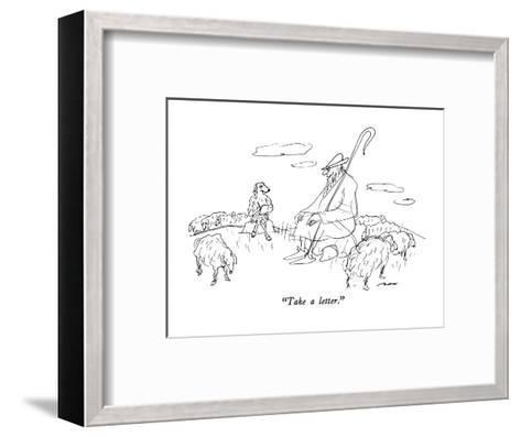 """""""Take a letter."""" - New Yorker Cartoon-Al Ross-Framed Art Print"""
