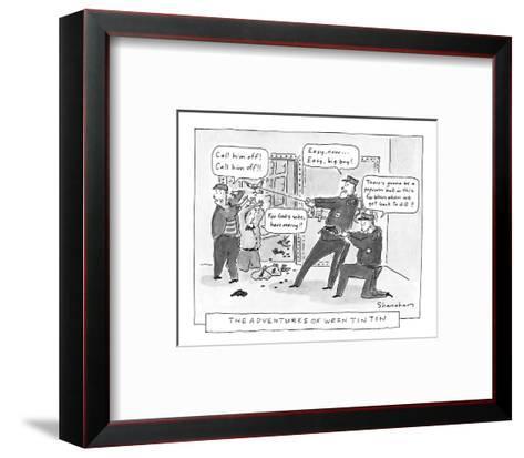 The Adventures Of Wren Tin Tin - New Yorker Cartoon-Danny Shanahan-Framed Art Print