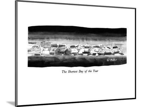 The Shortest Day of the Year - New Yorker Cartoon-Warren Miller-Mounted Premium Giclee Print