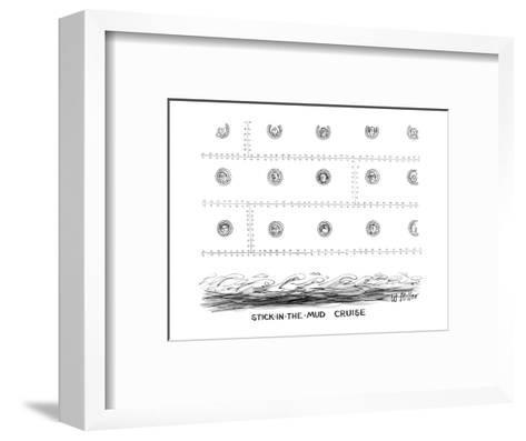 Stick-in-the-Mud Cruise - New Yorker Cartoon-Warren Miller-Framed Art Print