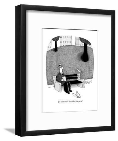 """It's not what it looks like, Margaret."" - New Yorker Cartoon-J.C. Duffy-Framed Art Print"