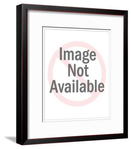 Rural mailbox 'Kim, Bill, Ned, Mary, Fred, Miki, Nels, Phaedra, Lenore, Sp? - New Yorker Cartoon-Mick Stevens-Framed Art Print