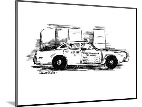 Sign on taxi cab door reads; Useful Information Cab Company, andlists meas? - New Yorker Cartoon-Stuart Leeds-Mounted Premium Giclee Print