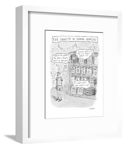 The Cruelty of School Supplies - New Yorker Cartoon-Roz Chast-Framed Art Print