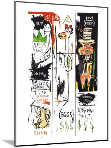 Quality Meats for the Public, 1982-Jean-Michel Basquiat-Mounted Giclee Print