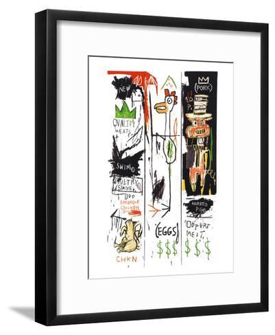 Quality Meats for the Public, 1982-Jean-Michel Basquiat-Framed Art Print