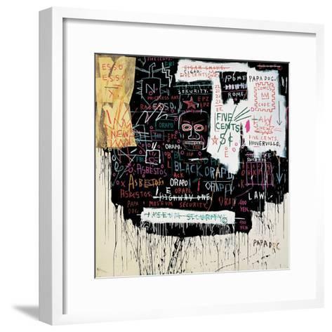 Museum Security (Broadway Meltdown), 1983-Jean-Michel Basquiat-Framed Art Print