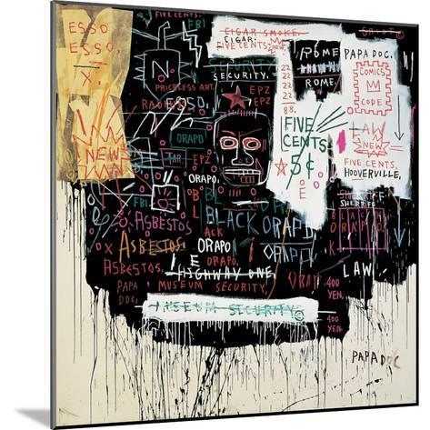 Museum Security (Broadway Meltdown), 1983-Jean-Michel Basquiat-Mounted Giclee Print