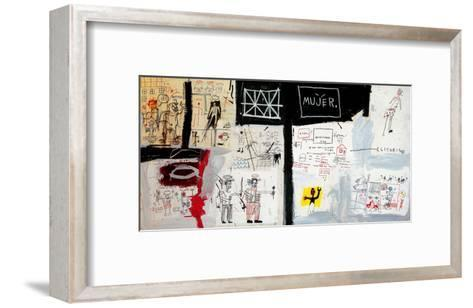 Price of Gasoline in the Third World, 1982-Jean-Michel Basquiat-Framed Art Print
