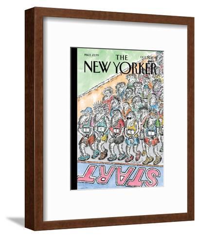The New Yorker Cover - October 22, 2012-Edward Koren-Framed Art Print