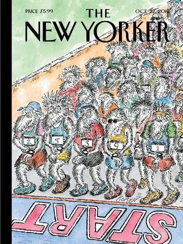The New Yorker Cover - October 22, 2012-Edward Koren-Stretched Canvas Print