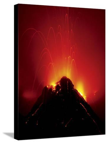 Volcano Erupting, Hawaii Volcanoes National Park, Hawaii-Frans Lanting-Stretched Canvas Print