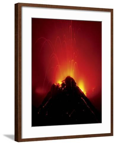Volcano Erupting, Hawaii Volcanoes National Park, Hawaii-Frans Lanting-Framed Art Print