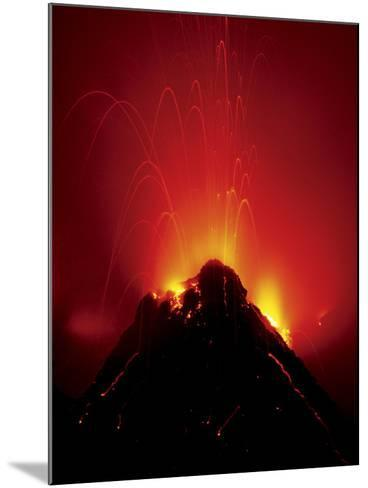 Volcano Erupting, Hawaii Volcanoes National Park, Hawaii-Frans Lanting-Mounted Photographic Print