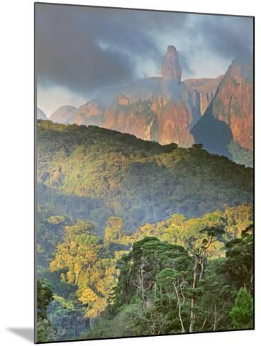 Rainforest and Granite Mountains, Serra Dos Orgaos National Park, Brazil-Frans Lanting-Mounted Photographic Print