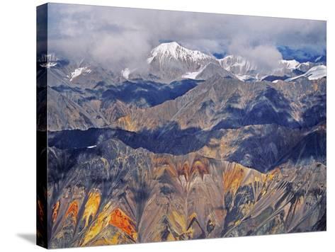 Wrangell Mountains (Aerial), Wrangell-St. Elias National Park, Alaska-Frans Lanting-Stretched Canvas Print