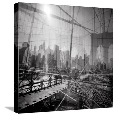 Brooklyn Bridge Triple-Evan Morris Cohen-Stretched Canvas Print