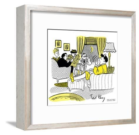 Hazel Cartoon-Ted Key-Framed Art Print
