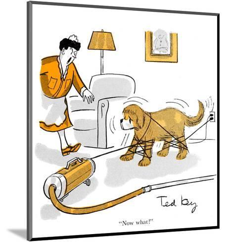 Hazel Cartoon-Ted Key-Mounted Art Print