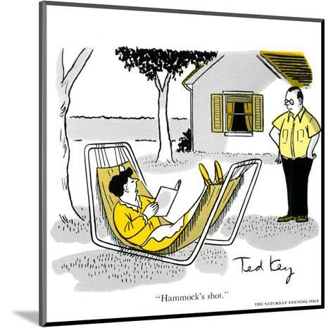 Hazel Cartoon-Ted Key-Mounted Art Print