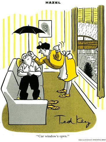 Hazel Cartoon-Ted Key-Stretched Canvas Print