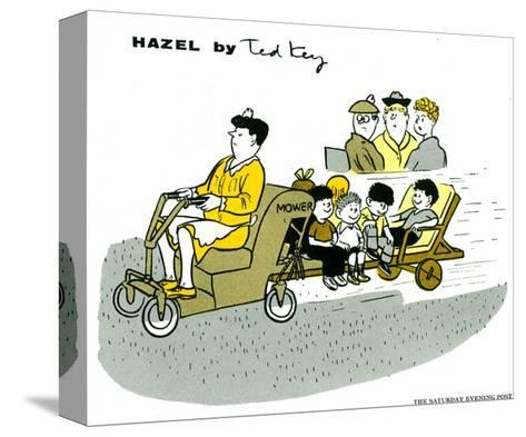 Hazel Cartoon-Ted Key-Stretched Canvas Print