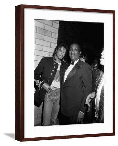 Michael Jackson; John H. Johnson - 1983-Isaac Sutton-Framed Art Print