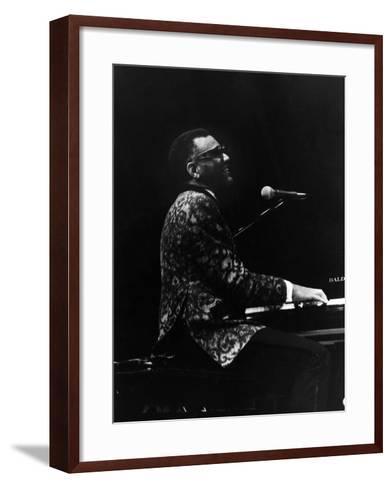 Ray Charles 1972-Norman Hunter-Framed Art Print