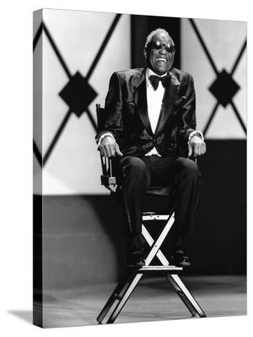 Ray Charles - 1994-James Mitchell-Stretched Canvas Print