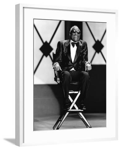 Ray Charles - 1994-James Mitchell-Framed Art Print