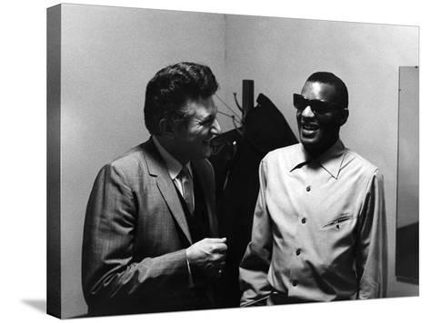 Ray Charles, Liberace - 1973-Howard Morehead-Stretched Canvas Print
