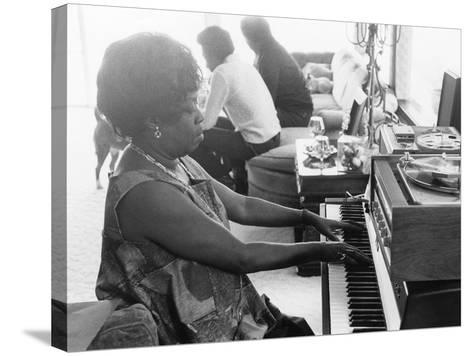 Sarah Vaughan at Piano-Ted Williams-Stretched Canvas Print