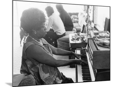 Sarah Vaughan at Piano-Ted Williams-Mounted Photographic Print
