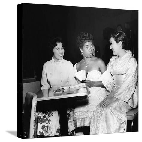 Sarah Vaughan and friends-Howard Morehead-Stretched Canvas Print