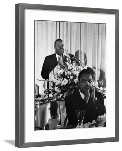 Ralph Abernathy, SCLC Convention - 1967-Howard Simmons-Framed Art Print
