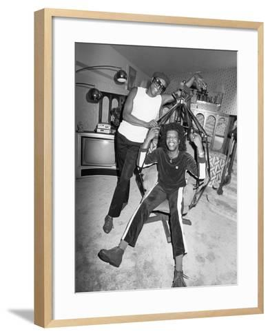 Sly Stone - 1984-Isaac Sutton-Framed Art Print