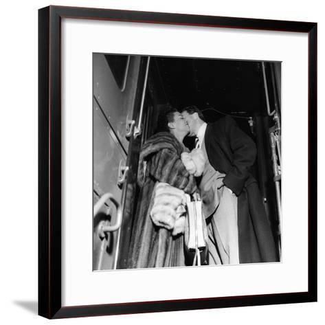 Hazel Scott and Adam Clayton Powell-Isaac Sutton-Framed Art Print