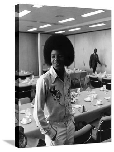 Michael Jackson-Norman Hunter-Stretched Canvas Print
