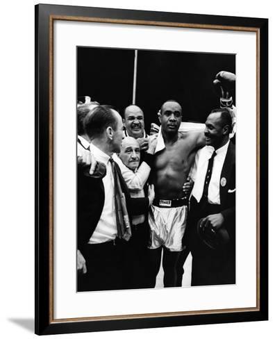 Sonny Liston - 1962-Moneta Sleet Jr.-Framed Art Print