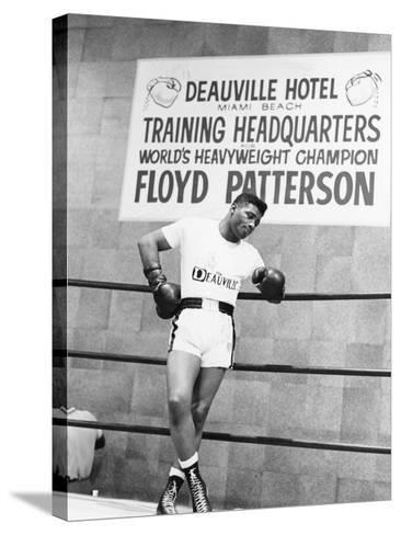 Floyd Patterson-Moneta Sleet Jr.-Stretched Canvas Print