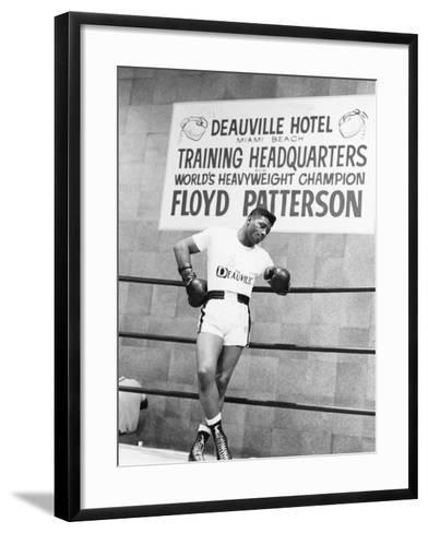 Floyd Patterson-Moneta Sleet Jr.-Framed Art Print