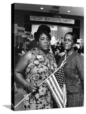 Fannie Lou Hammer and Ella Baker-Maurice Sorrell-Stretched Canvas Print