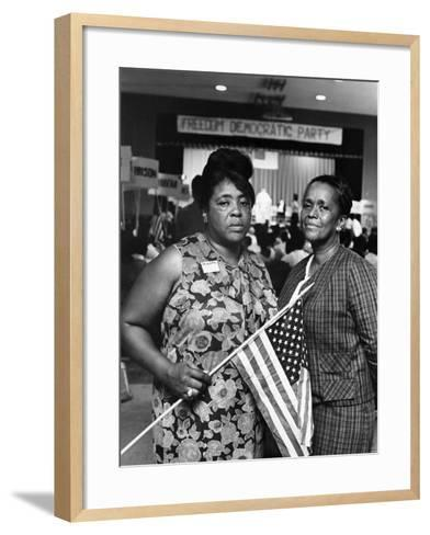 Fannie Lou Hammer and Ella Baker-Maurice Sorrell-Framed Art Print