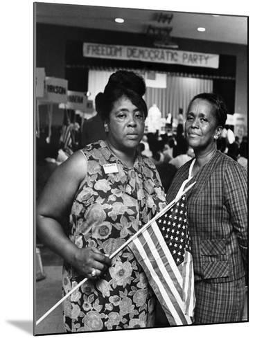 Fannie Lou Hammer and Ella Baker-Maurice Sorrell-Mounted Photographic Print