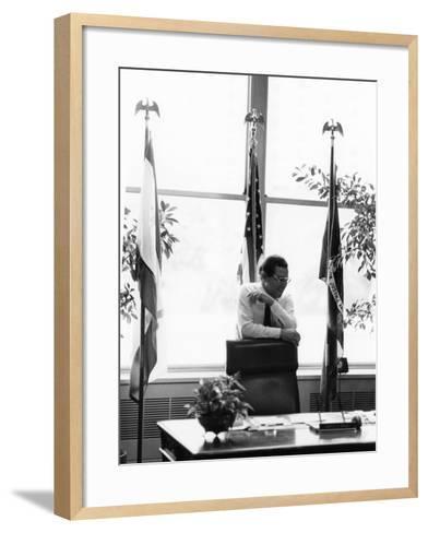 Ernest N. Morial - 1978-Vandell Cobb-Framed Art Print