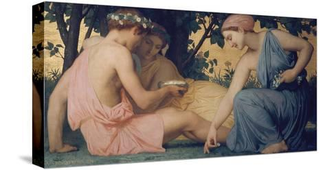 Spring, 1858-William Adolphe Bouguereau-Stretched Canvas Print